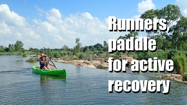 Runners, paddle for active recovery