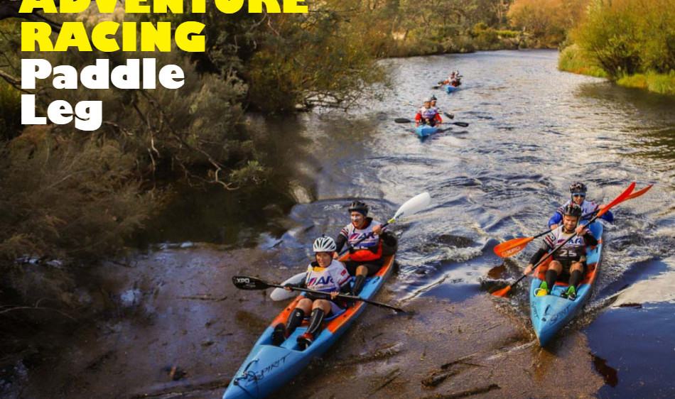 Adventure racing paddle leg