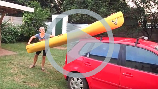 How to get your kayak off your roof racks on your own (video)