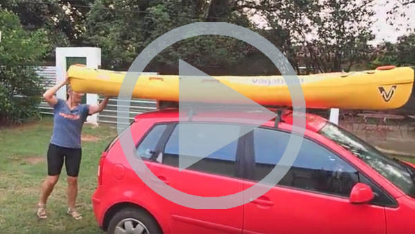 How to get your kayak onto your roof racks on your own (video)