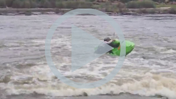 How to get back on to the Usutu whitewater sit-on-top if you capsize (video)
